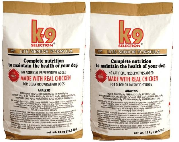 K-9 Selection Lite Formula 2x 20 kg